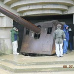 One of the naval guns at Batterie de Longues