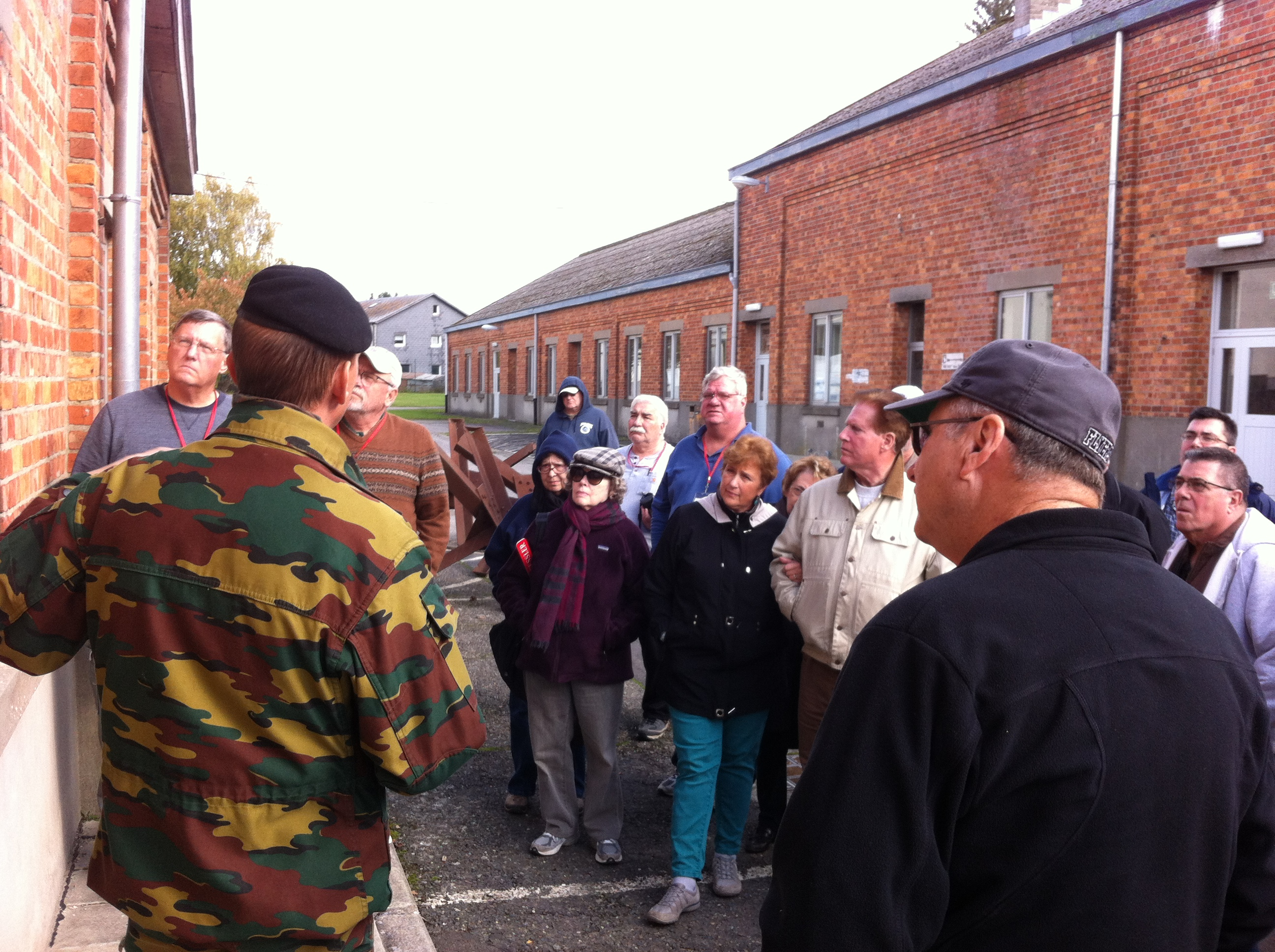 Sgt. Muller in action at Bastogne Barracks