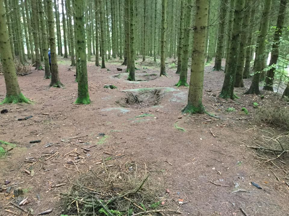 Battle of the Bulge foxholes