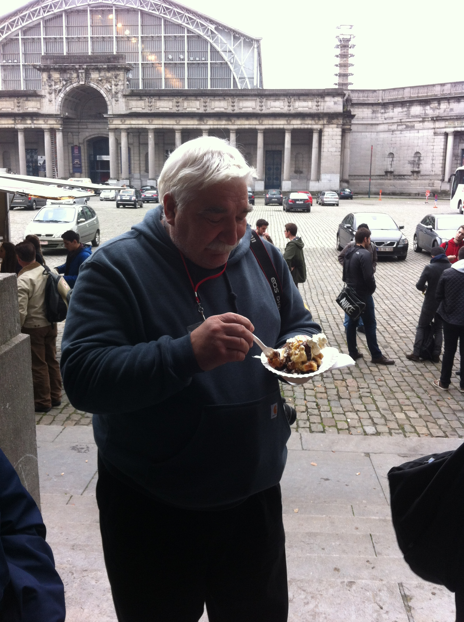 Jerry with waffle, Brussels