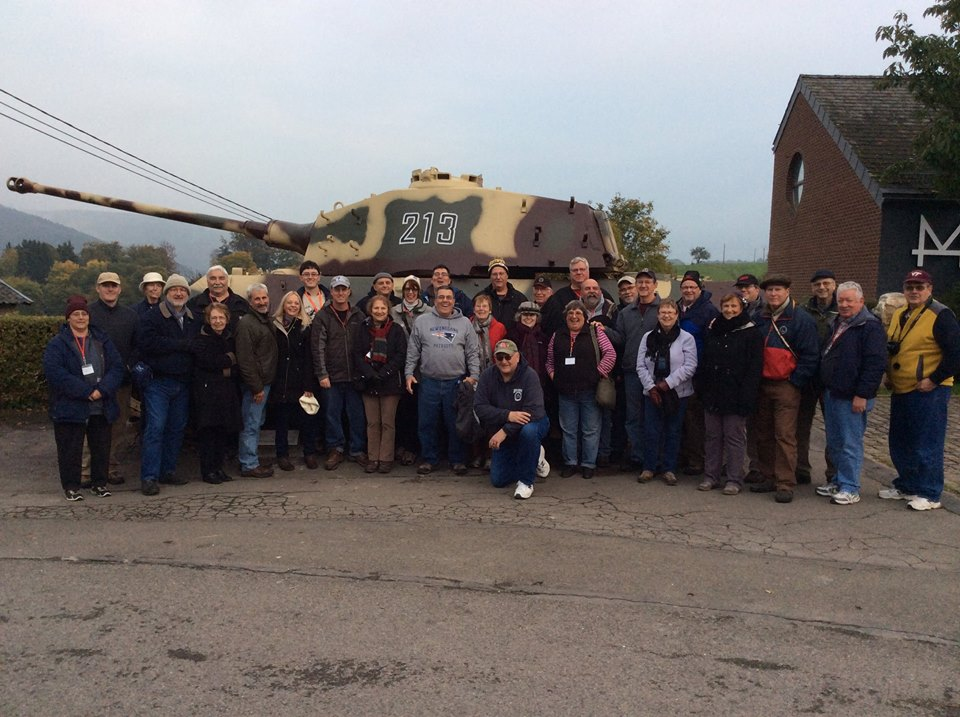Our 2015 Battle of the Bulge group at La Glaize